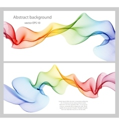 Wave abstract images color design vector