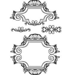 antique vintage frames vector image
