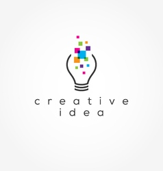 Creative idea logo vector