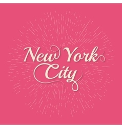 Vintage hand lettered textured new york vector