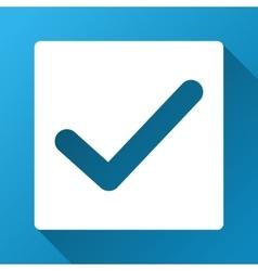 Check mark gradient square icon vector