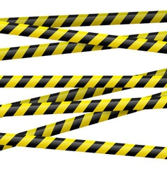 Black and yellow danger tape vector image