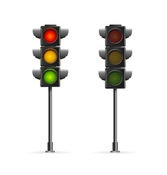 Road traffic light vector