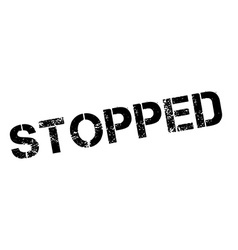 Stopped black rubber stamp on white vector