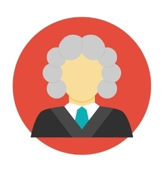 Judge avatar flat icon vector