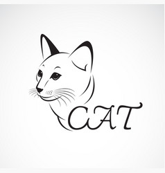 a cat head on white background pet animal easy vector image vector image