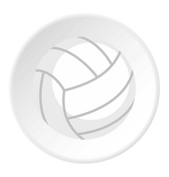 Ball for playing volleyball icon circle vector