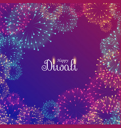 Beautiful diwali festival fireworks vector