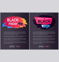 Black friday sale -25 off vector