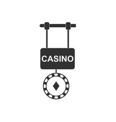 Black icon on white background casino street vector