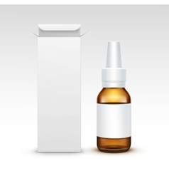 Blank medicine medical glass spray bottle vector
