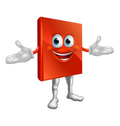 book mascot education character vector image vector image