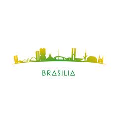 brasilia skyline silhouette vector image