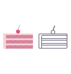 Cake icons on isolated background vector