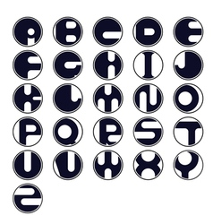 Circle letter icon vector image vector image