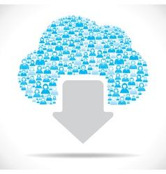 Cloud computing concept download vector