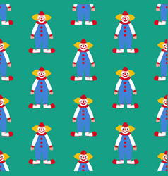 clown seamless pattern vector image vector image
