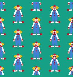 clown seamless pattern vector image