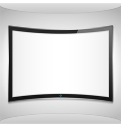 Curved Screen vector image vector image