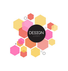 design logo template colorful abctract element vector image