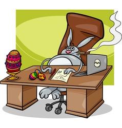 Easter bunny businessman cartoon vector