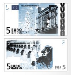 Euro 50 banknote vector