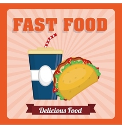 Fast food icon design vector