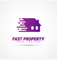 fast property logo vector image vector image