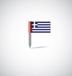 greece flag pin vector image