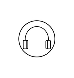 headphone line icon mobile sign and support vector image