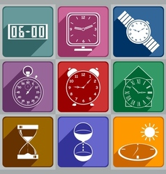 Icons of different watch vector image vector image