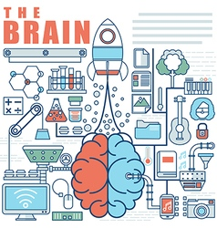 Infographics elements concept of Big Idea vector image