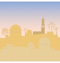 Jerusalem skyline silhouette flat design vector image vector image