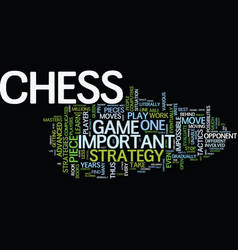 Learn the right moves for sucessful chess play vector