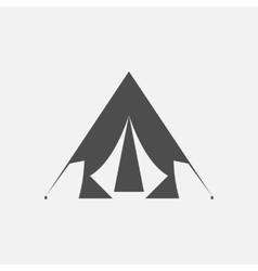 line silhouette of tent vector image