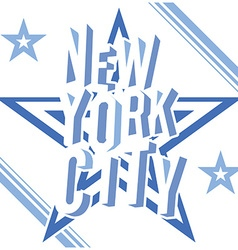New york city grunge typography poster t-shirt vector