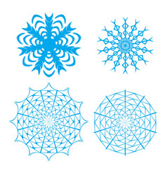 ornate snowflake set vector image