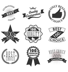 Quality emblems and labels vector