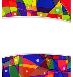 Stained glass window frame vector