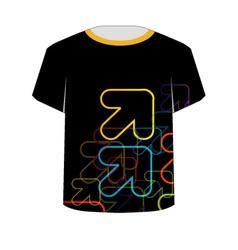 T shirt template- fractal arrows vector