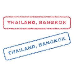 Thailand bangkok textile stamps vector