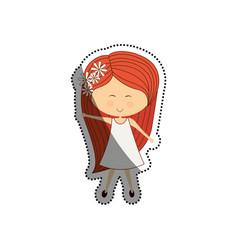Woman cute cartoon vector