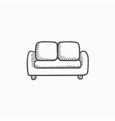 Sofa sketch icon vector
