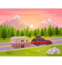 a mountain landscape vector image