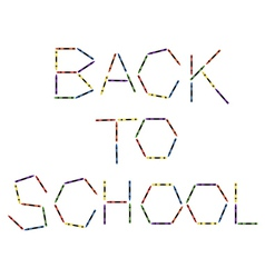 Large colored crayons forming back to school vector