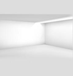 white empty room 3d modern blank interior vector image