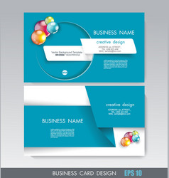 Business card design with paper tape and bright vector