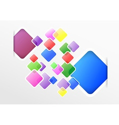 Transparent colorful squares on a modern vector image