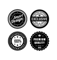 Vintage badges 3 vector image