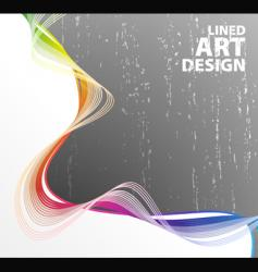 Lined art rainbow flow vector